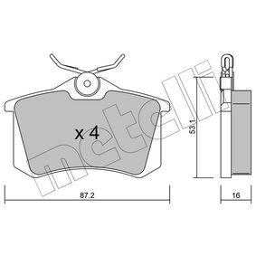 METELLI RENAULT MEGANE Brake pads (22-0100-2)