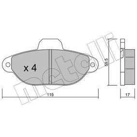 METELLI FIAT PANDA Brake pads (22-0159-1)