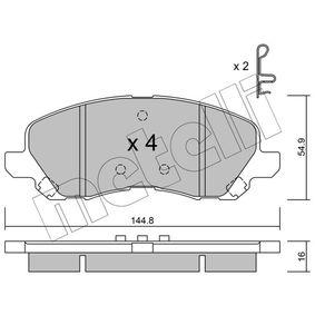 METELLI MITSUBISHI ASX Pastillas de freno (22-0481-0)
