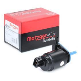 MICRA III (K12) METZGER Bomba de agua de lavado de parabrisas 2220051