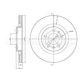 Bremsscheibe METELLI Art.No - 23-0391C OEM: 1J0615301P für VW, AUDI, SKODA, SEAT, PORSCHE kaufen