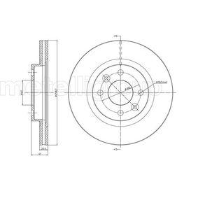 Bremsscheibe METELLI Art.No - 23-0549C OEM: 7701204828 für RENAULT, NISSAN, DACIA, DAEWOO, SANTANA kaufen