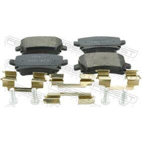 Bremsbelagsatz, Scheibenbremse FEBEST Art.No - 2301-B7R OEM: 4F0698451D für VW, AUDI, SKODA, SEAT, HONDA kaufen