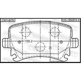 FEBEST Bremsbelagsatz, Scheibenbremse 4F0698451D für VW, AUDI, SKODA, SEAT, HONDA bestellen