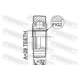 FEBEST Gelenksatz, Antriebswelle JZW498350DX für VW, AUDI, SKODA, SEAT bestellen