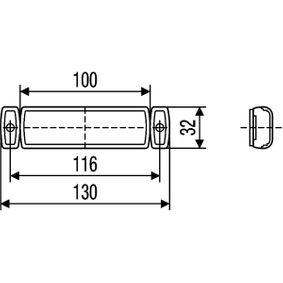 SWIFT III (MZ, EZ) HELLA Luz de delimitación lateral 2PS 008 645-611