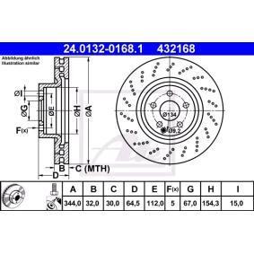 Spark plug 24.0132-0168.1 ATE
