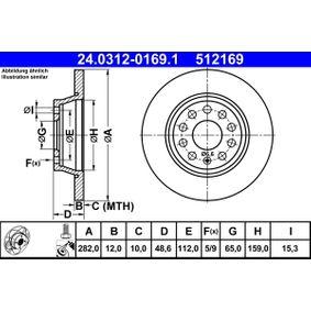 ATE Спирачен диск (24.0312-0169.1) на ниска цена