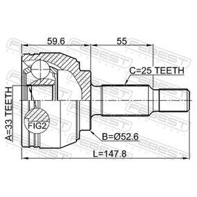 FEBEST Gelenksatz, Antriebswelle 8200198016 für RENAULT, RENAULT TRUCKS bestellen