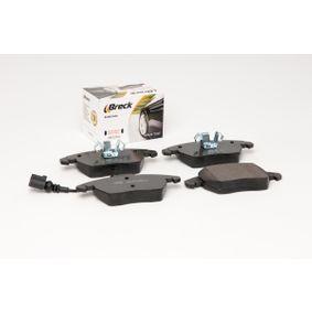 BRECK Kit de plaquettes de frein, frein à disque 8J0698151C pour VOLKSWAGEN, AUDI, SEAT, SKODA acheter