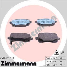 ZIMMERMANN Bremsbelagsatz, Scheibenbremse 68029887AA für MERCEDES-BENZ, FIAT, ALFA ROMEO, JEEP, CHRYSLER bestellen