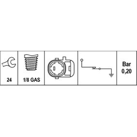 Датчик за налягане на маслото / сензор / клапан 6ZL 003 259-511 HELLA