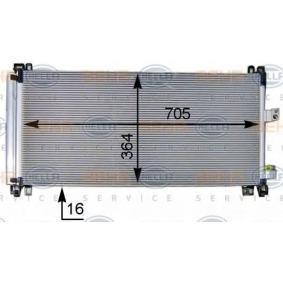 HELLA Kondensator, Klimaanlage 6455HR für PEUGEOT, CITROЁN, VOLVO bestellen