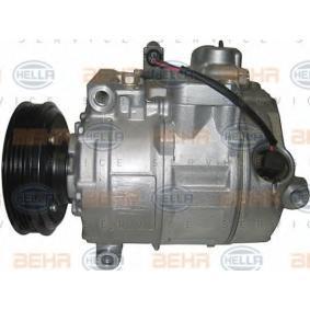 Compresor, aire acondicionado HELLA Art.No - 8FK 351 322-771 OEM: 8E0260805AH para VOLKSWAGEN, SEAT, AUDI, VOLVO, SKODA obtener