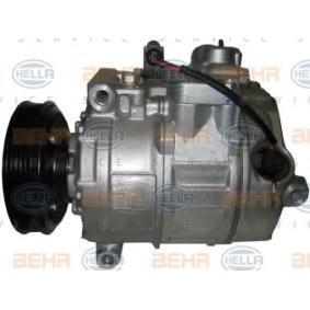 Compresor, aire acondicionado HELLA Art.No - 8FK 351 322-781 OEM: 8E0260805AH para VOLKSWAGEN, SEAT, AUDI, VOLVO, SKODA obtener