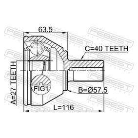 FEBEST Gelenk, Antriebswelle LR003159 für LAND ROVER, ROVER bestellen