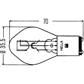 Крушка с нагреваема жичка, главни фарове (8GD 002 084-131) от HELLA купете