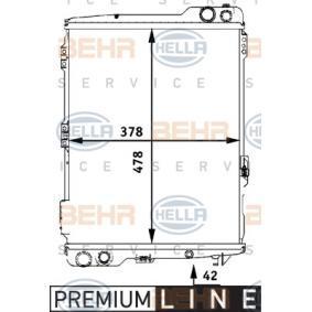 Wasserkühler und Kühlerdeckel (8MK 376 711-281) hertseller HELLA für AUDI 90 2.2 E quattro 136 PS Baujahr 04.1987 günstig