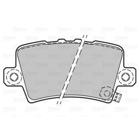 Brake pads VALEO (301849) for HONDA CIVIC Prices