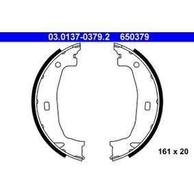Bremsebakkesæt, parkeringsbremse bagaksel, 161mm fra producenten ATE 03.0137-0379.2 op til - 70% rabat!