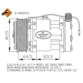 Compressor, air conditioning 82002069 OE Part Number
