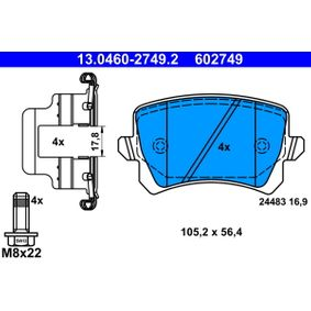 ATE Клапан, контрол на въздуха- засмукван въздух (13.0460-2749.2)