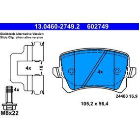 ATE VW GOLF Жило за газта / -щанги (13.0460-2749.2)