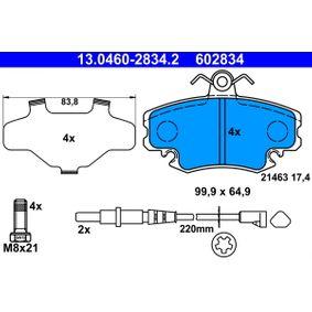 Bremsensatz, Trommelbremse ATE (13.0460-2834.2) für RENAULT TWINGO Preise