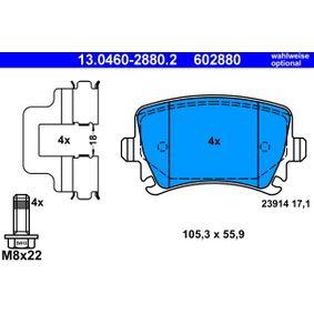 ATE Bremsbelagsatz, Scheibenbremse JZW698451D für VW, AUDI, SKODA, SEAT bestellen