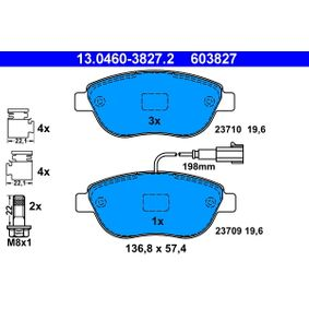Aviso desgaste forro de frenos ATE 13.0460-3827.2 populares para FIAT GRANDE PUNTO 1.6 D Multijet 120 CV