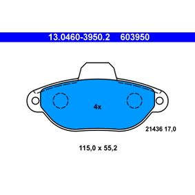 ATE Exhaust pipe gasket (13.0460-3950.2)