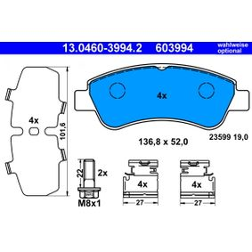 ATE Brake Pad Set, disc brake 13.0460-3994.2