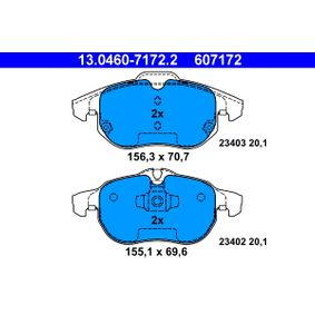 ATE Bremsbelagsatz, Scheibenbremse (13.0460-7172.2) niedriger Preis