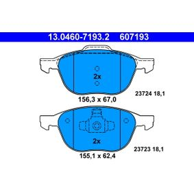 ATE Brake pad set (13.0460-7193.2)