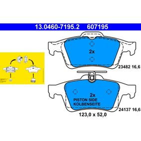 V40 Hatchback (525, 526) ATE Brake pad set disc brake 13.0460-7195.2