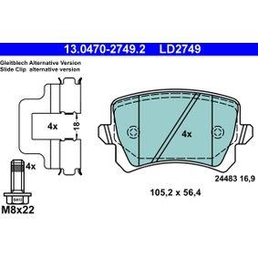 Zahnriemen ATE (13.0470-2749.2) für VW TOURAN Preise