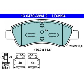 ATE Brake Pad Set, disc brake (13.0470-3994.2) at low price