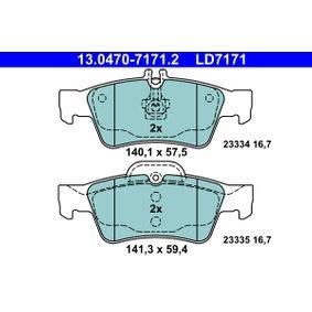 ATE MERCEDES-BENZ E-osztály Fékpofakészlet (13.0470-7171.2)