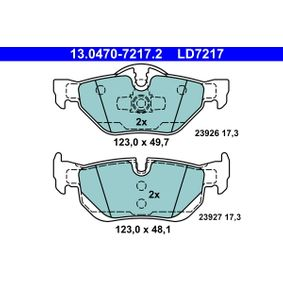 3 Touring (E91) ATE Zahnriemensatz mit Wasserpumpe 13.0470-7217.2