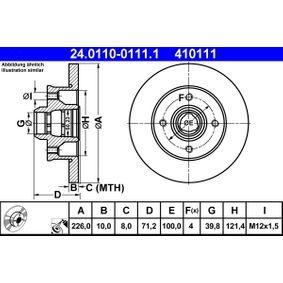 ATE Bremsscheibe (24.0110-0111.1) niedriger Preis