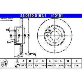 ATE Bremsscheibe (24.0110-0151.1) niedriger Preis