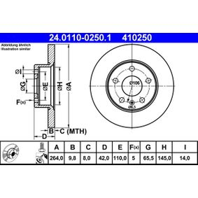 Kühlmittelflansch ATE (24.0110-0250.1) für OPEL ZAFIRA Preise