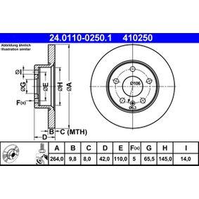 ATE Bremsscheibe 24.0110-0250.1
