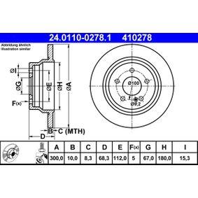 Fékpofakészlet ATE (24.0110-0278.1) mert MERCEDES-BENZ E-osztály Az árak