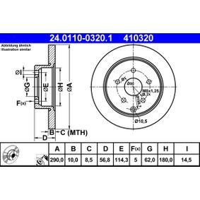 COROLLA Verso (ZER_, ZZE12_, R1_) ATE Correa de alternador 24.0110-0320.1