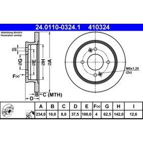 ATE Motor agua limpiaparabrisas (24.0110-0324.1)