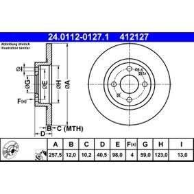 ATE Pezzo per fissaggio, imp. gas scarico (24.0112-0127.1)