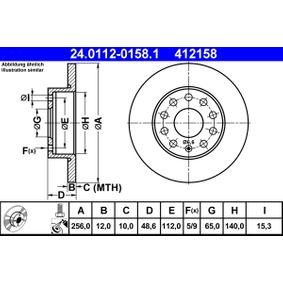 ATE Bremsscheibe (24.0112-0158.1) niedriger Preis