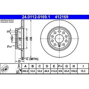 ATE Спирачен диск (24.0112-0169.1) на ниска цена