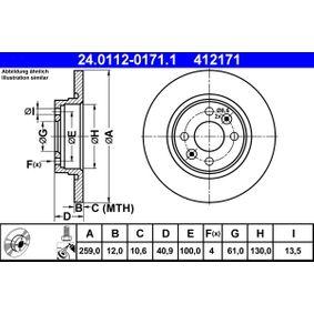 ATE Bremsscheibe (24.0112-0171.1) niedriger Preis